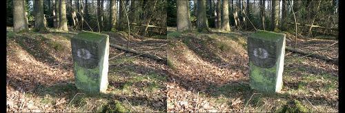 Alter Grenzstein von 1746 hintere Ansicht